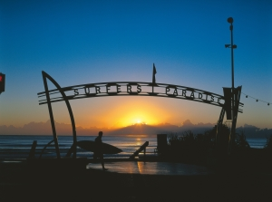 Sunrise at Surfers Paradise Gateway