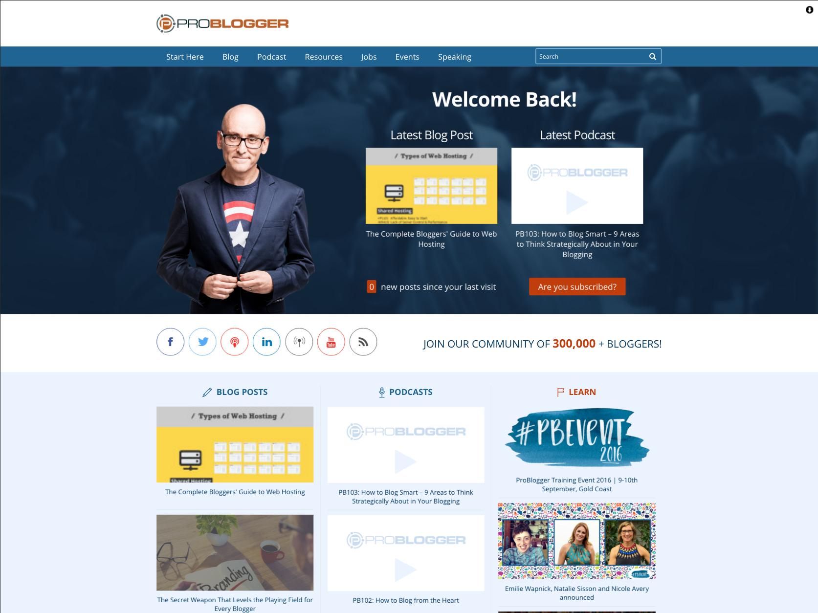 problogger redesign