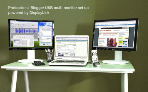 DisplayLink Technology: FlatronWide L206WU USB-based monitors