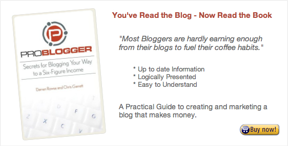 Buy ProBlogger the Book