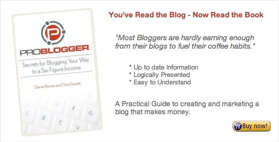 Buy ProBlogger the Book