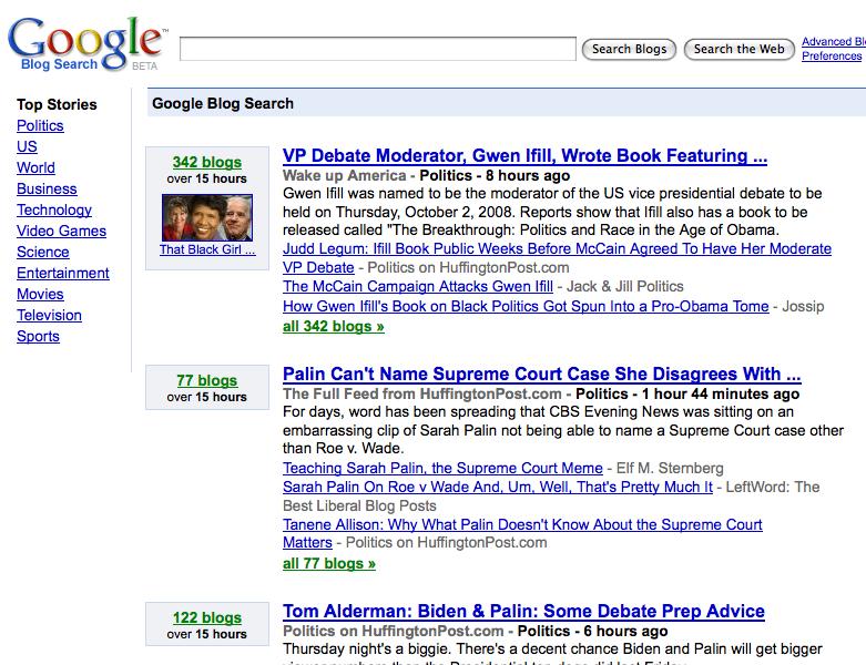 google blog search. Google BlogSearch Adds Meme