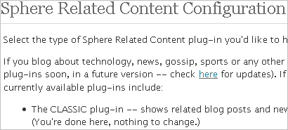 Sphere Plugin Configuration