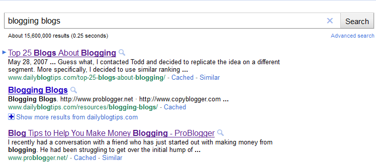 blogging blogs search