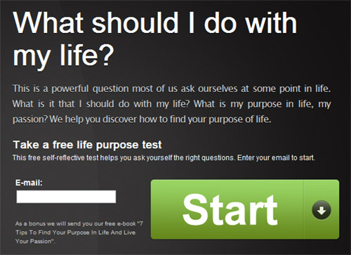 The One Question subscription form