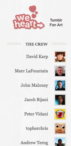 Tumblr staff sidebar