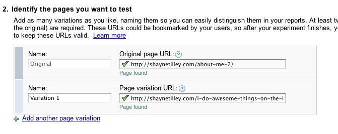 Include URLs