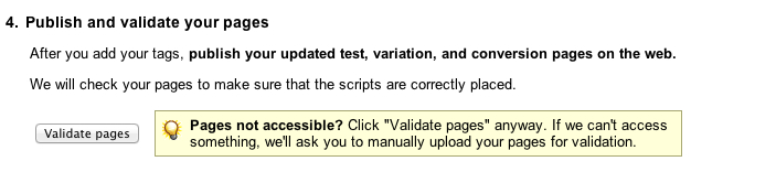 Validate pages