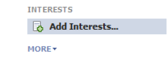 Add interests on Facebook