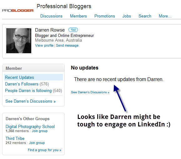Darren on LinkedIn