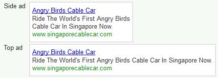 Sample search ad