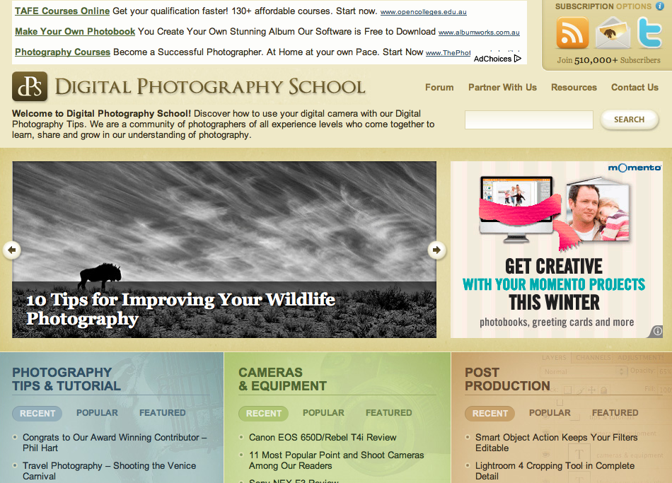 dPS homepage