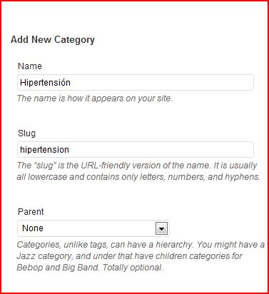 Add Category Hypertension