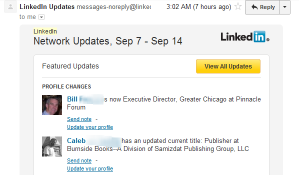 how to change linkedin email