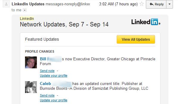LinkedIn update