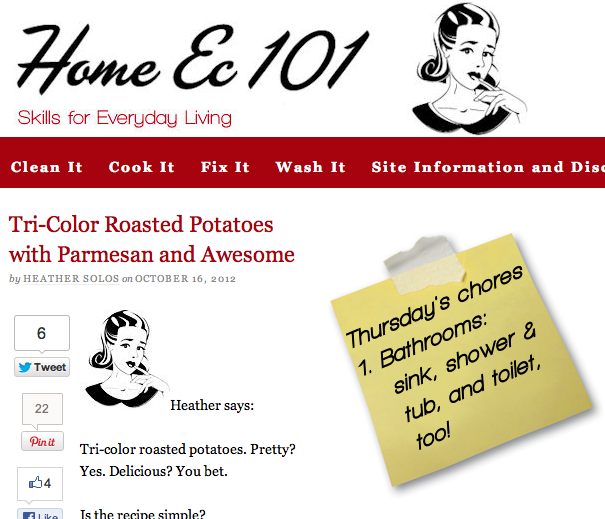 The Home Ec 101 homepage