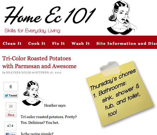 The Home Ec 101 homepage