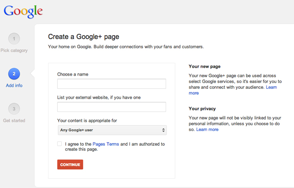 Google plus company page 2