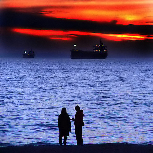 ships, night, passing and all that...