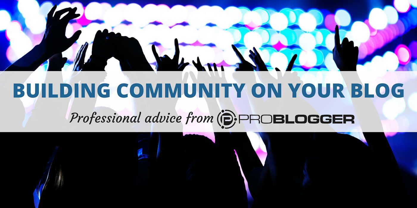 building community on your blog