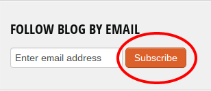 Orange Subscribe Button