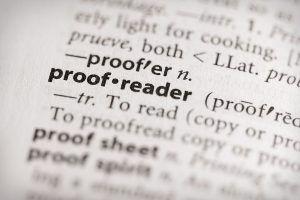 Proofreader Dictionary Entry