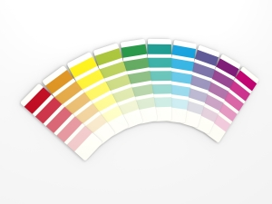 Rainbow colour chart