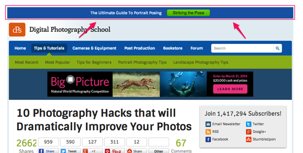 Announcing the New Sticky Top Bar Plugin: A ProBlogger ...