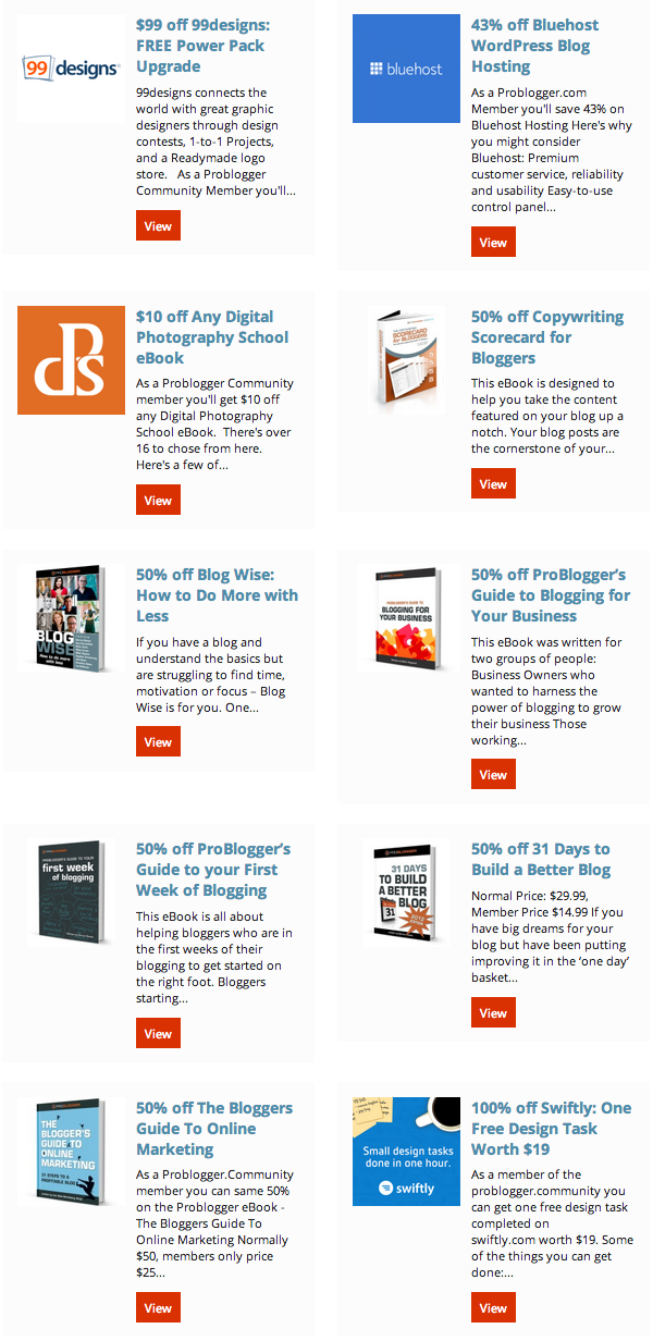 problogger discounts