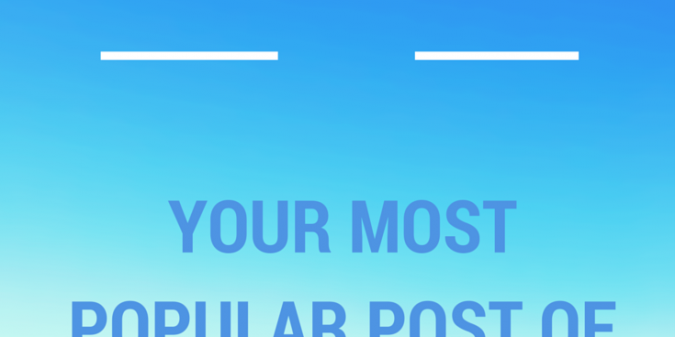 Share your most popular posts of 2104