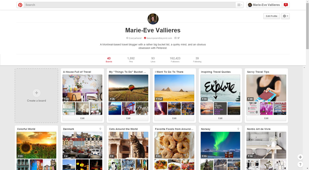 pinterest-profile 4 Ways Pinterest Can Help Drive Traffic To Your Blog