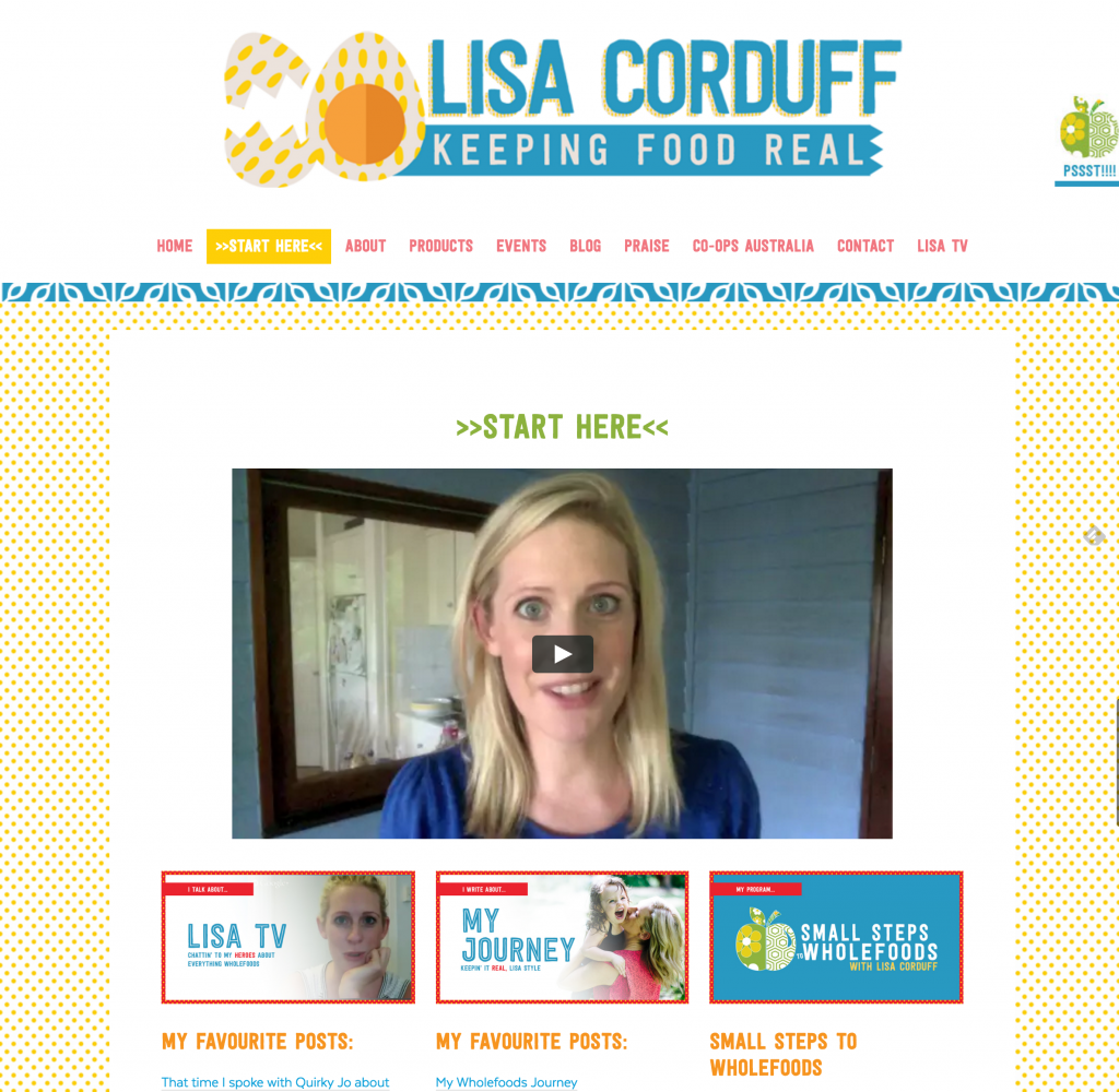 lisa corduff start here page