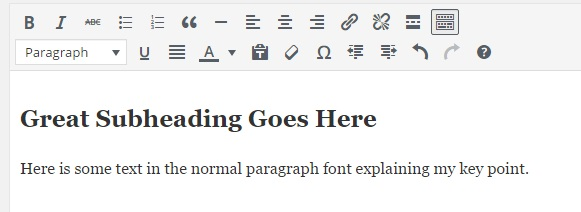 subheading-formatted