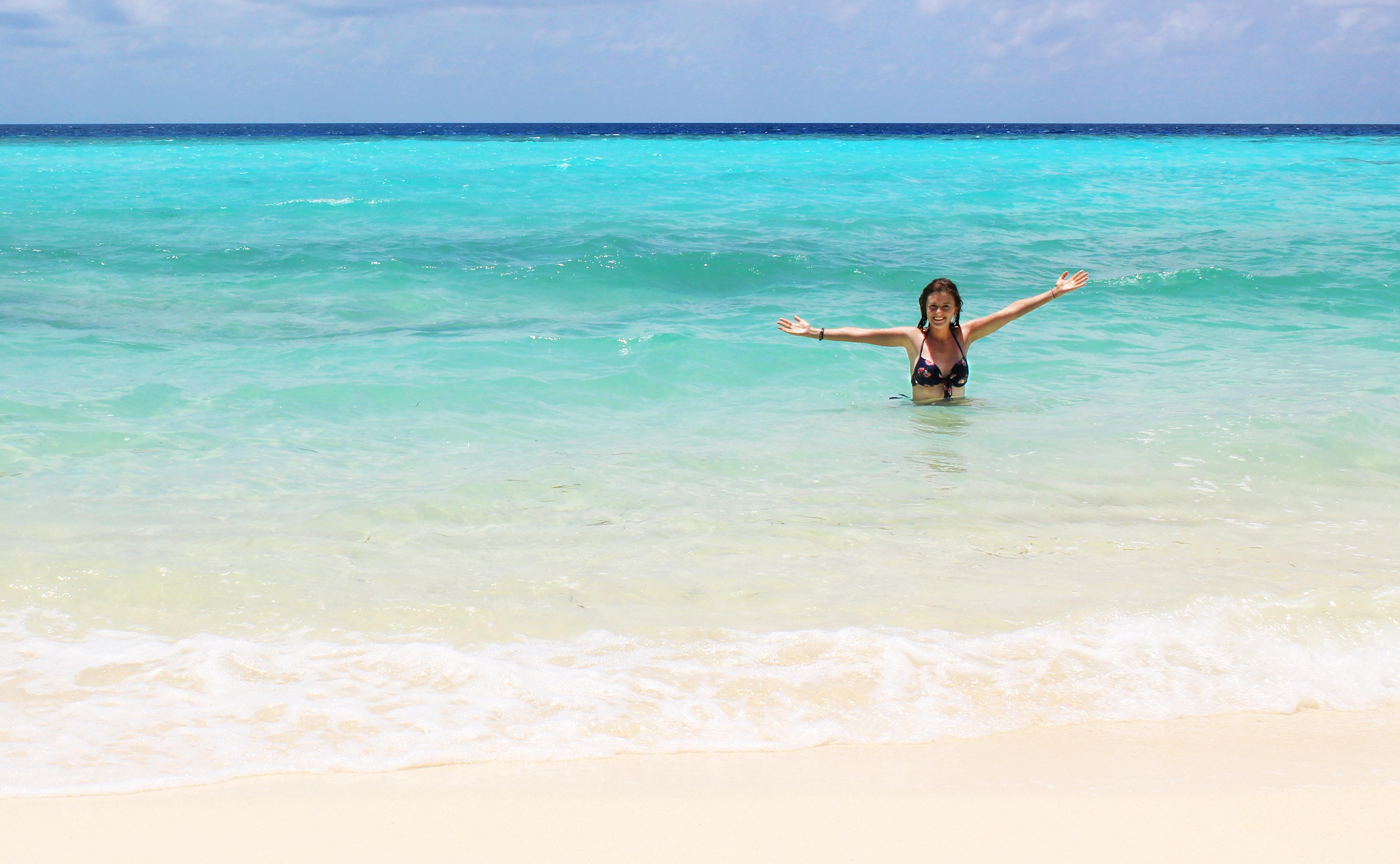 Lauren in Maafushi, The Maldives