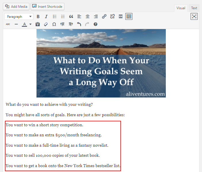 6 WordPress Formatting Tips to Make Your Posts More Readable 14
