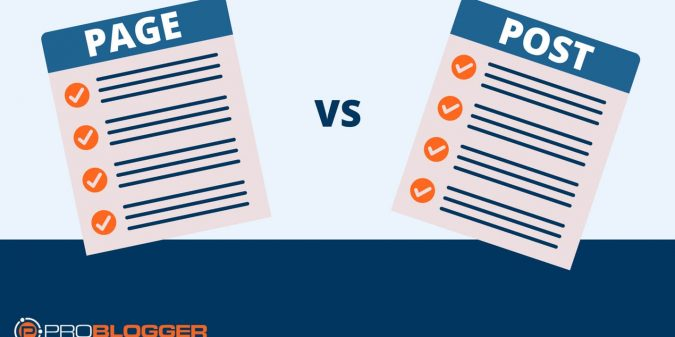 The difference between pages and posts