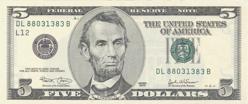 Us $5 Obverse